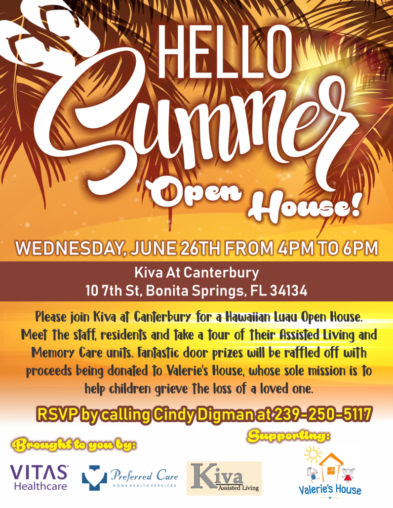 Hello Summer Open House June 26th